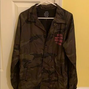 Anti Social Social Club Army Print Windbreaker